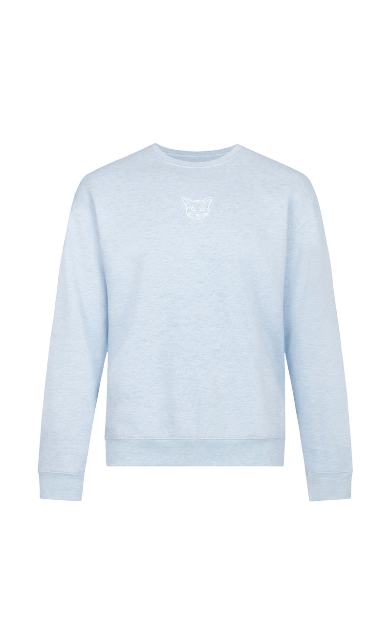 LIGHT BLUE PASTEL CLUB CREWNECK