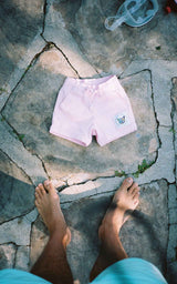 KIDS LILAC SWIM CLUB SHORTS