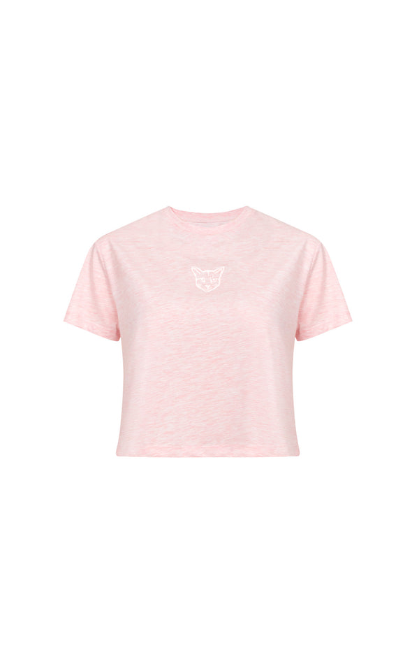ROSE PASTEL CLUB CROPPED SHIRT