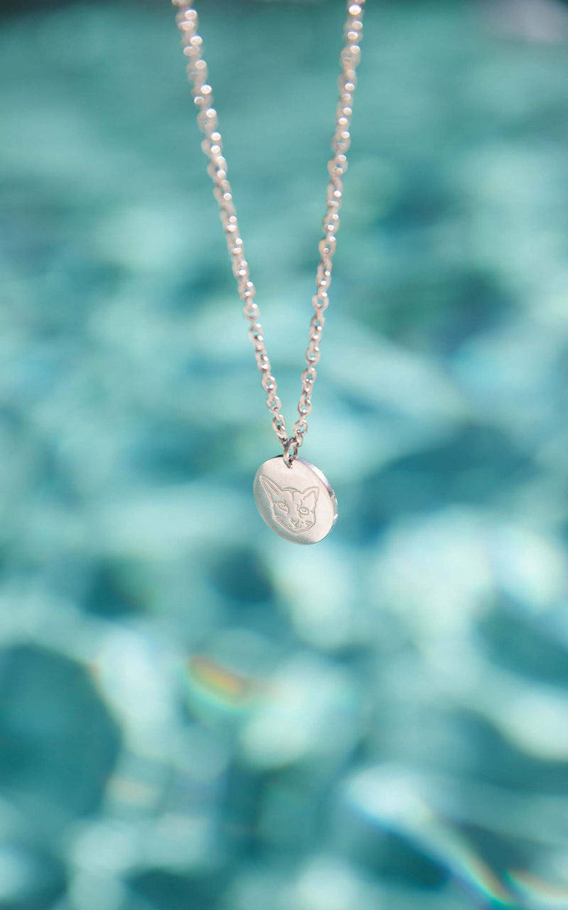 SILVER PURELEI X PARI NECKLACE COIN