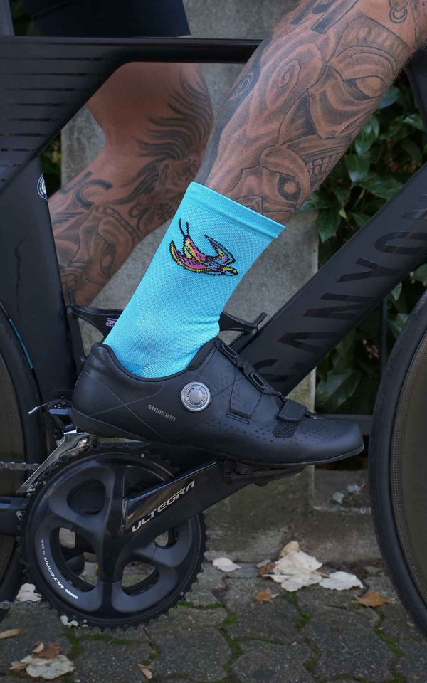 TURQUOISE SOUPLESSE CLUB CYCLING SOCKS