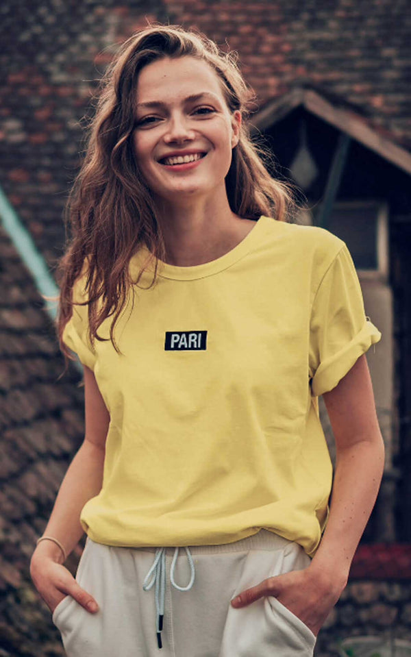 YELLOW T-SHIRT BOX LOGO
