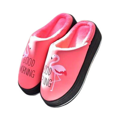 chausson femme flamant rose