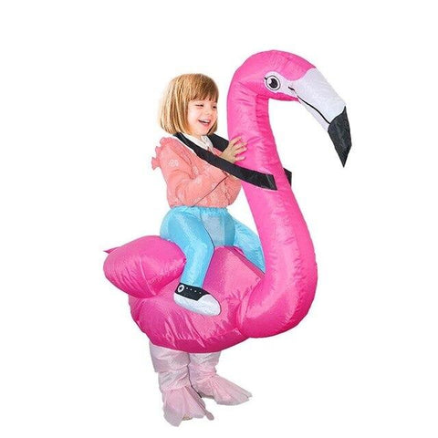 costume halloween flamant rose