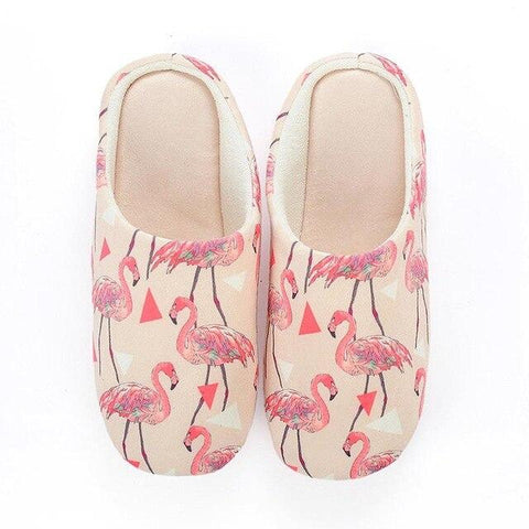 flamant rose chaussons