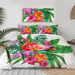 Housse De Couette Flamant Rose <br> Tropical