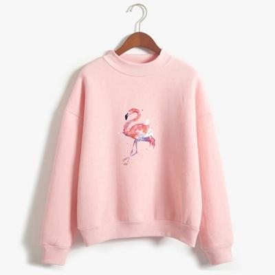 pull flamant rose fille