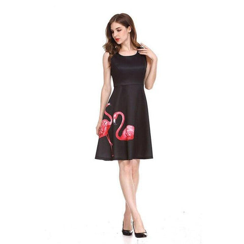 robe femme flamant rose