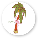 stickers voiture flamant rose