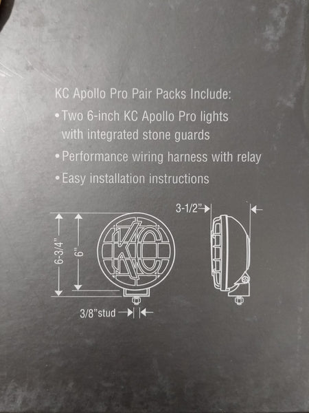kc hilites 6 inch apollo pro series driving light kit - 151 – carrier  spring service