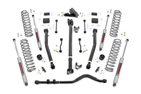 3.5IN JEEP SUSPENSION LIFT KIT | STAGE 2 COILS & ADJ. CONTROL ARMS (2018 WRANGLER JL)