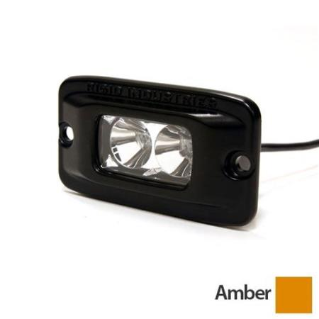Rigid Industries SR-M2 Flush Mount Wide Amber LED Light - 93212