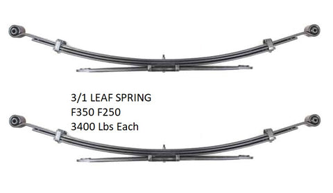 2008-2018 Ford F250SD, F350SD 2wd 4wd - Leaf Spring (Rear - 3/1 Leaves) 43-1705 / 3400 Lbs
