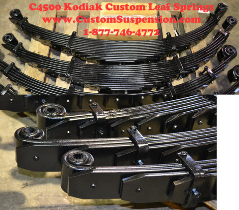 "Kodiak Topkick C4500 Custom Lift Springs Rear 08"" - Pair"