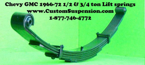 "Chevy/GMC 1966-72 1/2 & 3/4 ton Front Springs 04"" Lift - Pair"