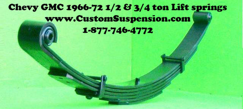 "Chevy/GMC 1966-72 1/2 & 3/4 ton Front Springs 06"" Lift / Premium Pkg- Pair"
