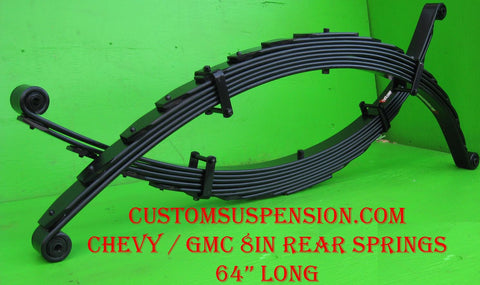 "Chevy/GMC 1988-98 1500 & 2500 Custom 08"" Rear Lift Spring -Pair"
