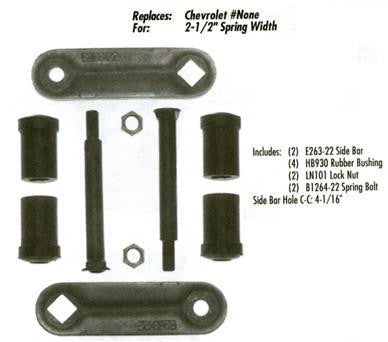 GMC/Chevy 1965-70 Front Suspension - Shackle Kit - Pair