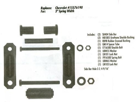GMC/Chevy 1988-93 Front Suspension - Shackle Kit - Pair