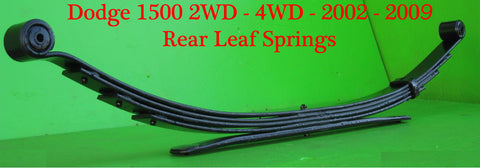 "Dodge 1500 2wd 4wd (2002-2009) Custom Rear Springs 04"" - Pair"