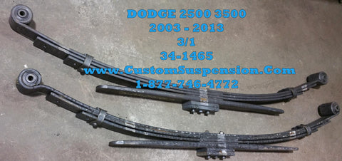 Dodge Ram 2500, 3500 (2003-2009) 4wd Rear Leaf Spring OEM 34-1465 - Pair
