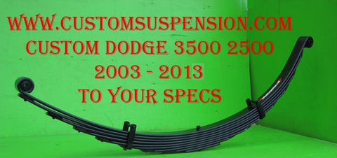 "Dodge 2500 3500 (2003 - 2013) Custom Rear Lift Spring 06"" - Pair"