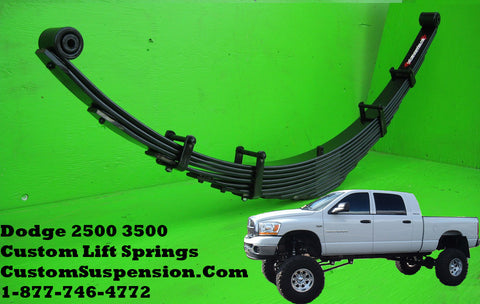 "Dodge 2500 3500 (2003 - 2012) Custom Rear Lift Spring 12"" - Pair"