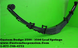 "Dodge 2500 3500 (2003 - 2013) Custom Rear Lift Spring 10"" - Pair"