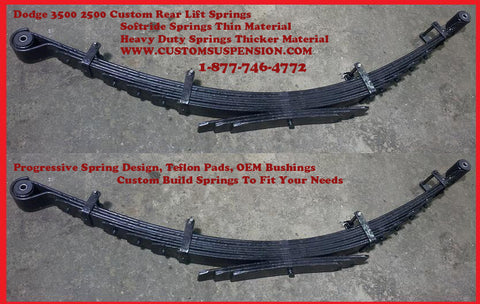 "Dodge 2500 3500 (2003 - 2013) Custom Rear Lift Spring 04"" - Pair"
