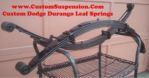 "Dodge Durango 1998 - 2003 Custom 2"" Rear Leaf Springs - Pair"