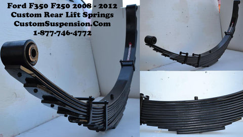 "Ford F350 (2008 - 2016) Custom Rear Leaf Spring 14"" - Pair"