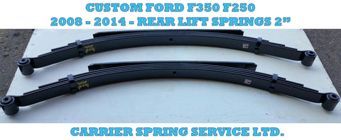 "Ford F350 (2008 - 2016) Custom Rear Leaf Spring 02"" - Pair"