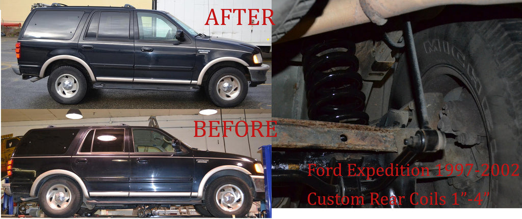 Ford Expedition Air Bag to Coil Spring Conversion - 2