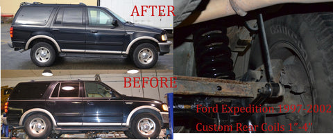 "Ford Expedition Air Bag to Coil Spring Conversion - 2"" Lift"