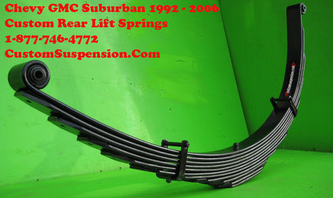"Suburban 2500 1500 1992 - 2006 Custom 12"" Rear Springs - Pair"