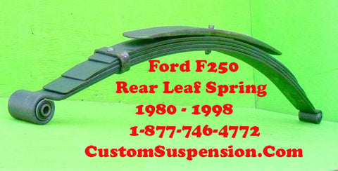 Ford F250 1980-98 Rear Leaf Spring OEM Heavy Duty - Pair