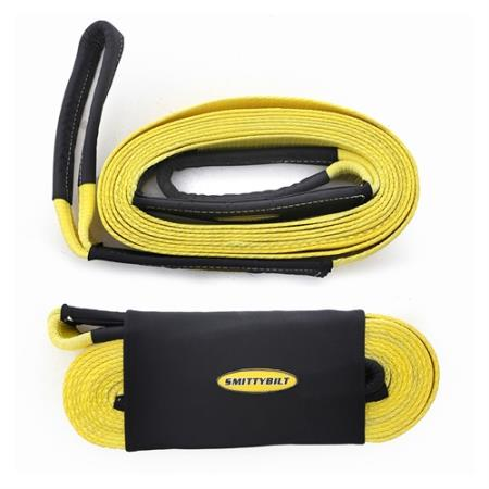 Smittybilt 3 Inch, 30 Foot Tow Strap (Yellow) - CC330