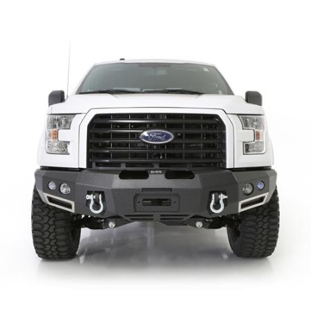 M1 Ford 150 Winch Mount Front Bumper with D-ring Mounts and Light Kit
