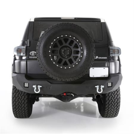 Smittybilt M1 Toyota Rear Bumper with D-ring Mounts and Additional Rear Lights Included (Black) - 614850