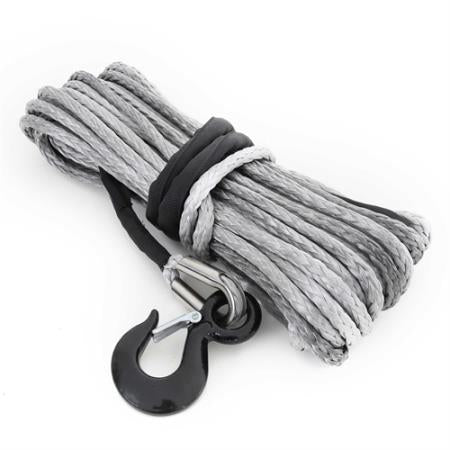 Smittybilt 15,000 Pound XRC Synthetic Winch Rope, 92 Foot Length (Gray) - 97715