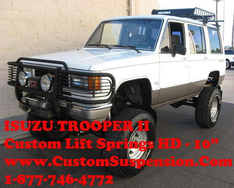 "Isuzu Trooper II 1988 - 1991 Custom 06"" Rear Lift Springs -Pair"