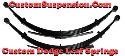 Dodge Pickup 3/4 1 Ton 1969-93 Rear Leaf Spring, OEM 34-253, 3250Lb. - Pair