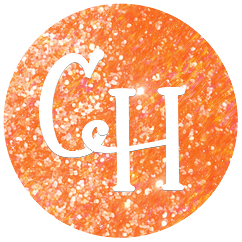 HTV Glitter • Candy Corn | Neon Orange