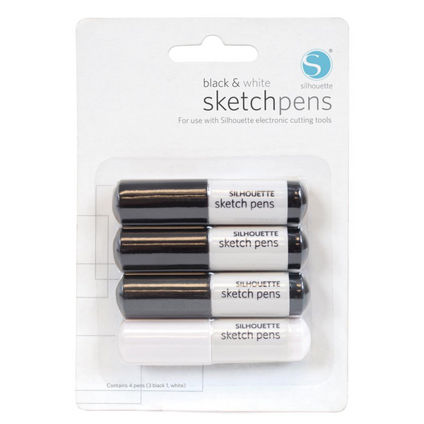 Sketch Pens • Black + White 4 Pk.