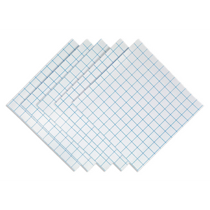 "12"" x 12"" Grid-Lined • Clear"