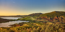 Load image into Gallery viewer, The Green Fields and Red Rocks of Lake Salagou