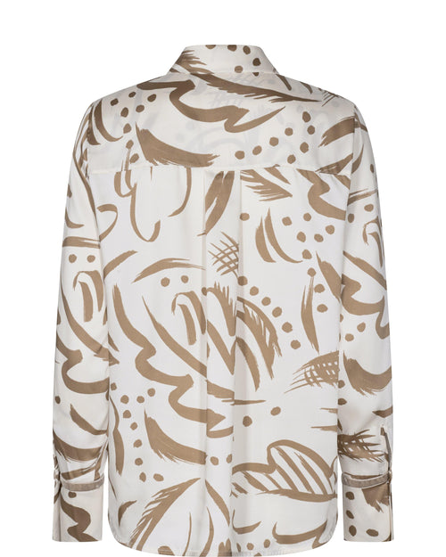 Mosmosh Jodie Troy Cream/Gold Leaf Print Shirt - Ribbon Rouge Boutiques