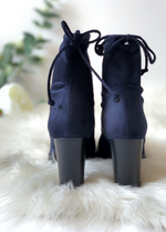 Ribbon Rouge LI Royal Suede String Boots - Ribbon Rouge Boutiques