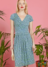 Onjenu Blair Short Sleeve Floral Print EOS Green Dress