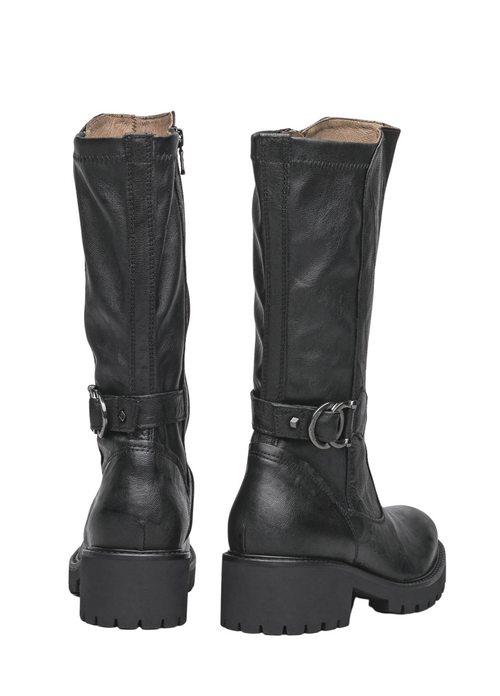 Nero Giardini Leather Calf Length Black Boots - Ribbon Rouge Boutiques
